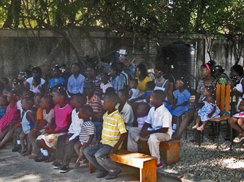 Sunday School at H.I.S. Home